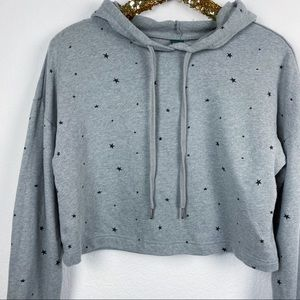 Wild Fable • Cropped Star Printed Hoodie